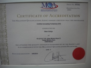 Foundation in Accountancy (CAT) - The only MQA Accredited in Melaka