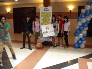 Kolej Sinar delegates at Himpunan Mahasiswa Anak Melaka at Seri Negeri