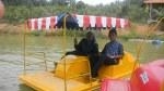 Participants were paddling the boat at Selandar Farm