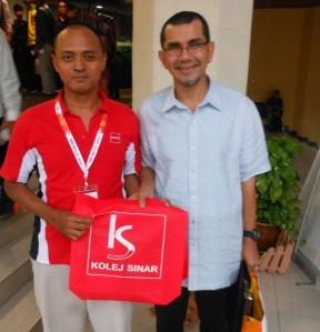 With one of the speaker, ex-CEO of PROTON / PERODUA, Datuk Seri Syed Zainal Abidin Syed Mohd Tahir