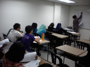 Students were listening to the teaching