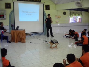 Talk on accountancy career at SMK Seri Tanjung, Tanjung Keling