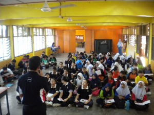 Talk at SMK Tun Mutahir Batu Berendam on 25 October 2013 from 08.00am to 11.00am