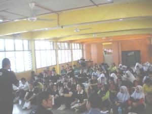 Talk at SMK Tun Mutahir, Batu Berendam