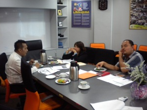 Discussing details with Invest Melaka and MIDA