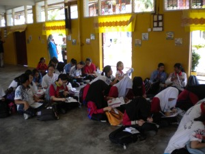Students of SMK Ledang