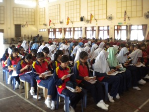 Students of SMK Tun Mamat, Tangkak