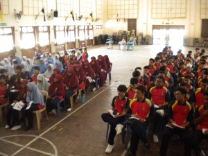 Talk at SMK Tun Mamat, Tangkak