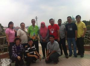 Students of Kursus Pemandu Pelancong Sijil Kemahiran Malaysia During Putrajaya Tour