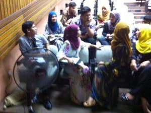 Talk on tourism industry at Politeknik Merlimau, Melaka