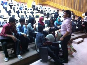 Talk on tourst guide career at Politeknik Merlimau, Melaka