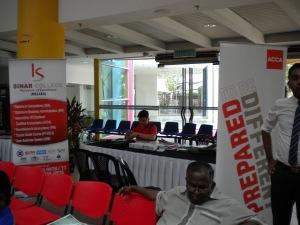 Kolej Sinar Promotion Booth at Melaka Mall