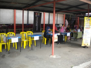 Promotional Booth by private colleges at SMK Durian Tunggal