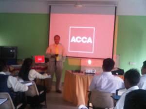 Talk on The Association of Chartered Certified Accountants (ACCA) qualification and career at Sekolah Menengah Kebangsaan Seri Bemban