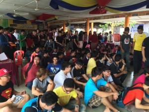 Students of Sekolah Menengah Kebangsaan Tun Haji Abdul Malik, Melaka were waiting for their SPM result