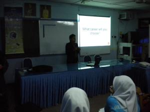 Talk on accountancy & ACCA qualification by Mr Benjamin